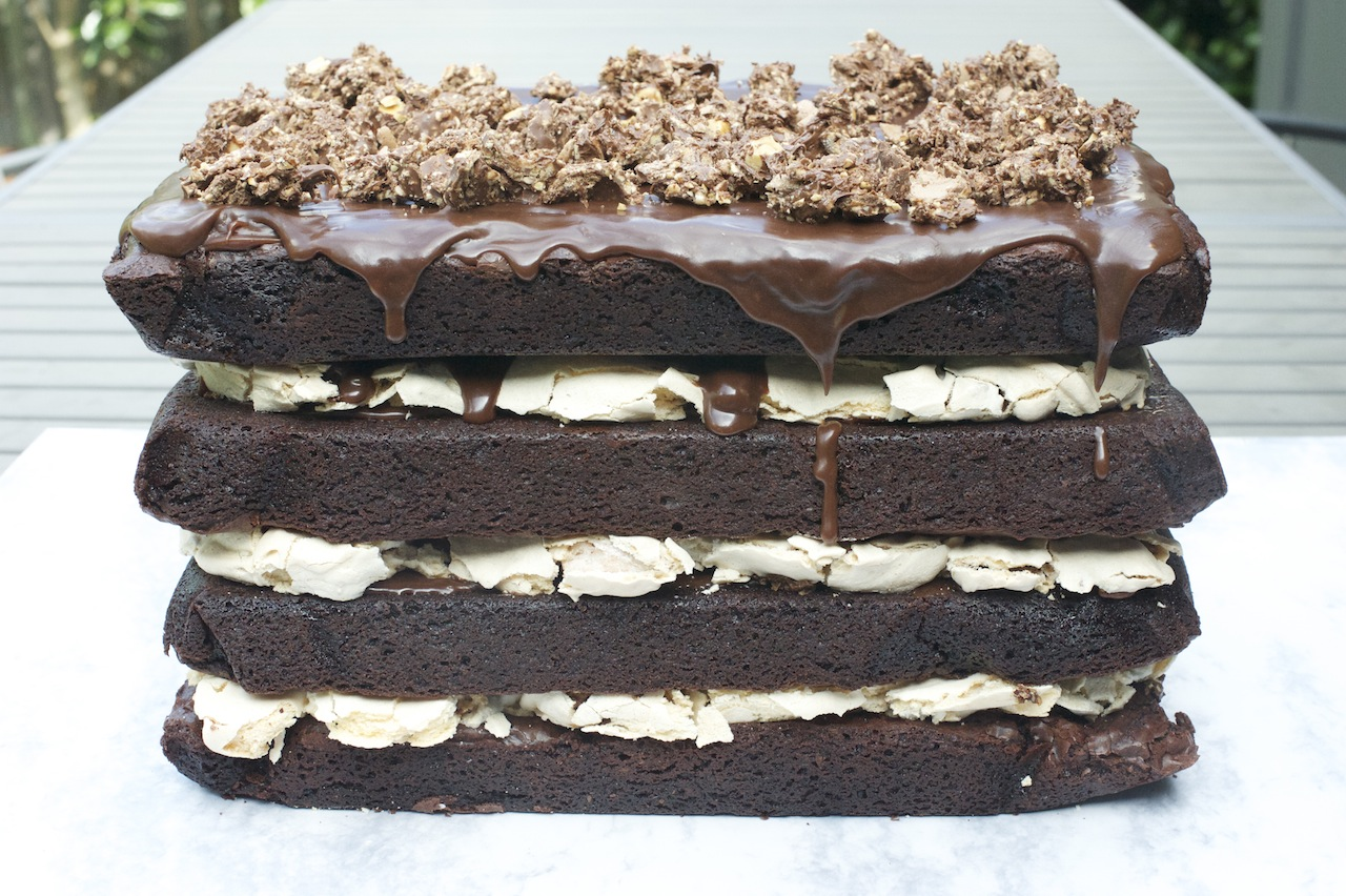 Brownie layer cake recipe